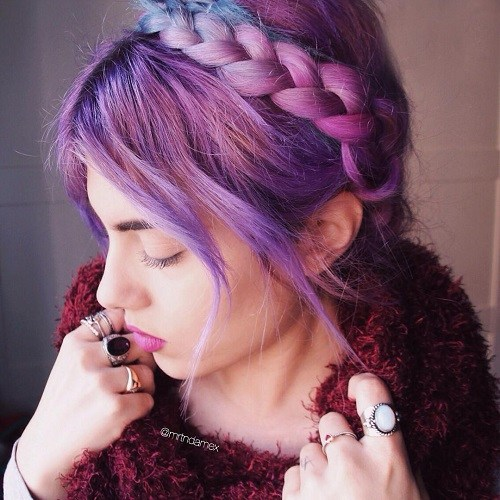 Colorful Crown Braid