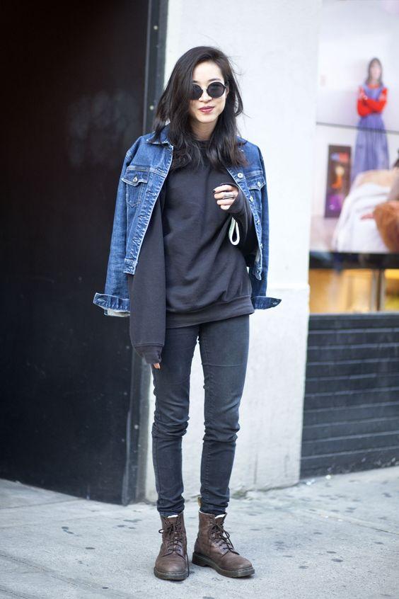 Denim Jacket and Black Basic