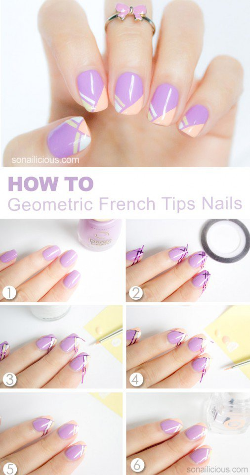 French Tips Nail Design Tutorial