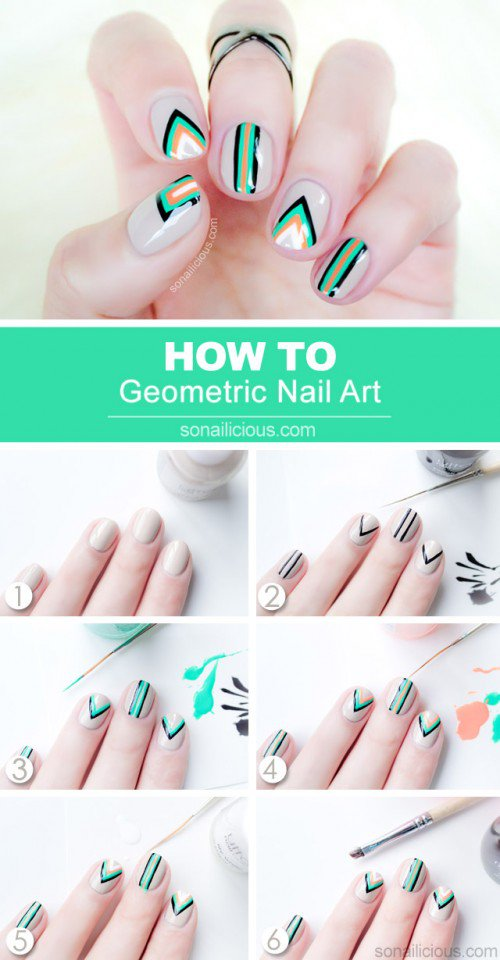 Geometric Nail Design Tutorial