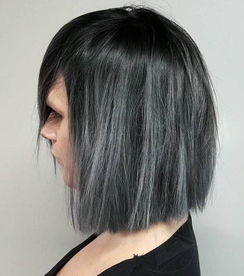 Grey Straight Bob