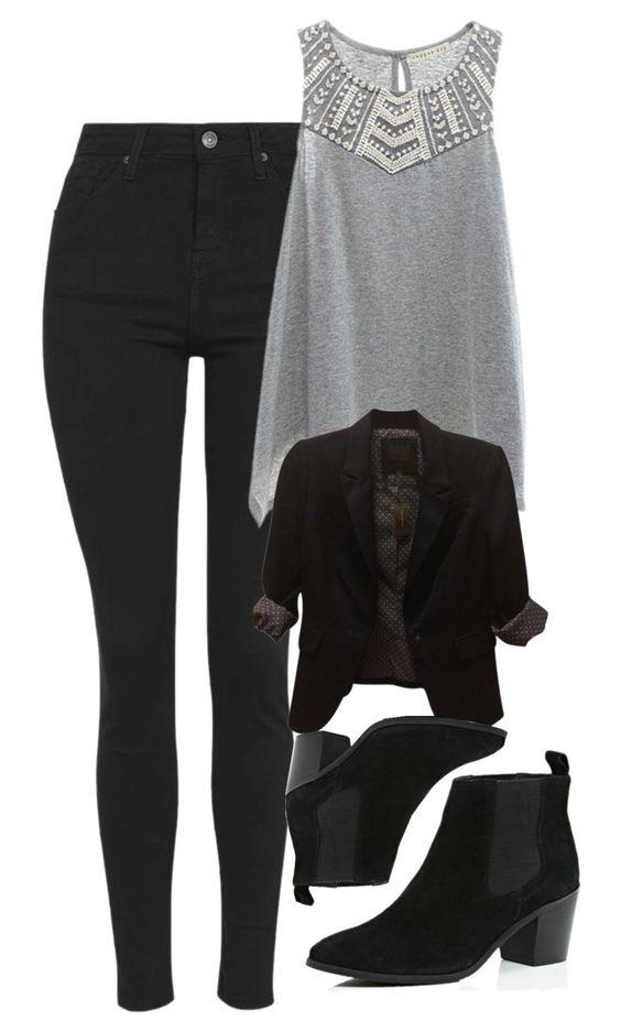 Grey Top and Black Leggings