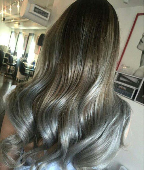 Grey and Brown Hair