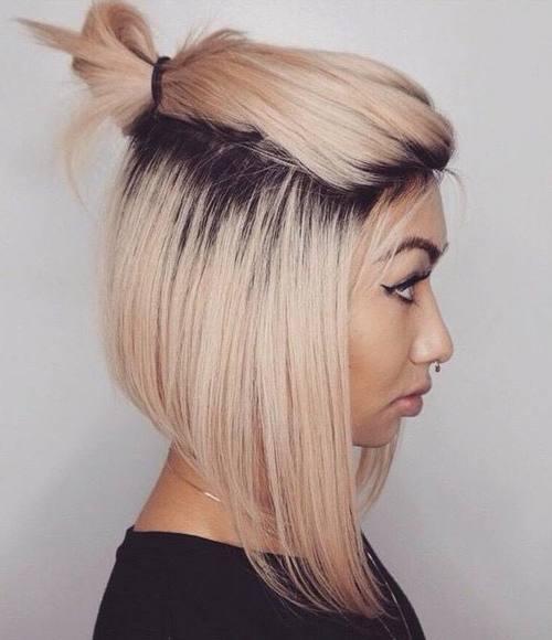 Half up Half do for Mid-length Hair