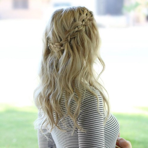Heart Shape Waterfall Braid