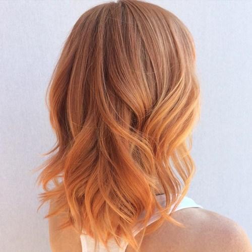 Honey-kiss Mid-length Hair