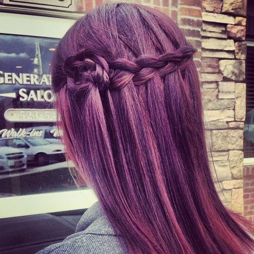 Lavender Waterfall Braid