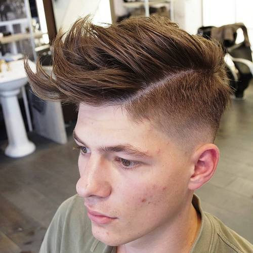 Layered Quiff Hair