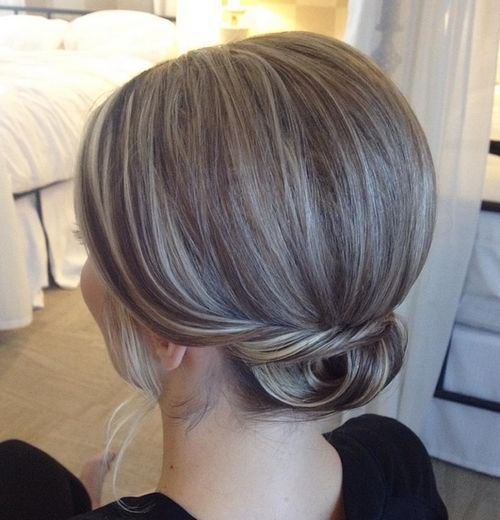 Low Bun for Highlighted Hair