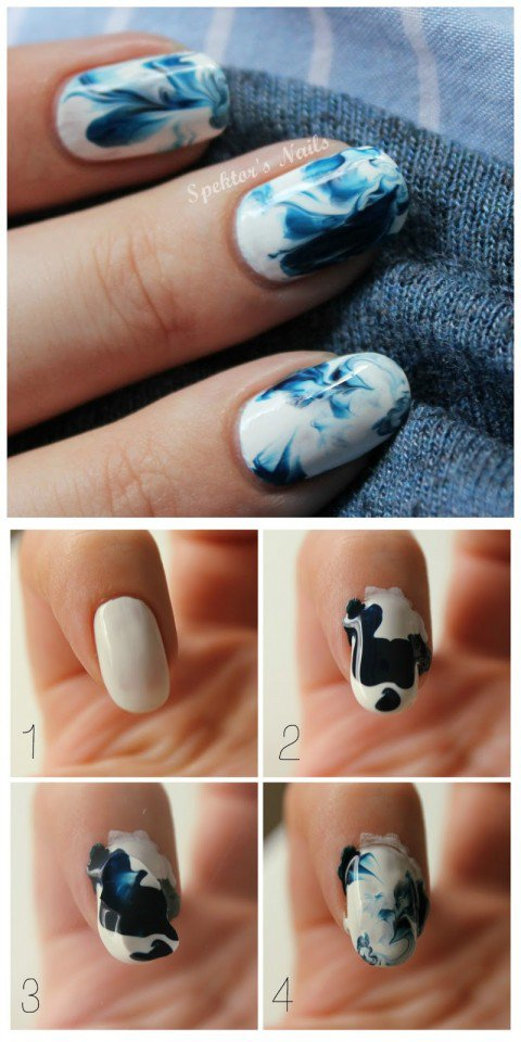 Marble Nail Design Tutorial