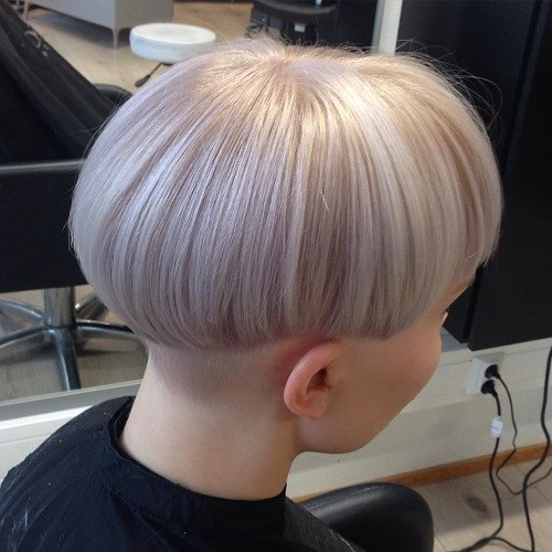Pale Pink Bowl Hair