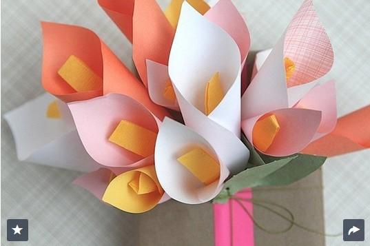 Paper Calla Lilies