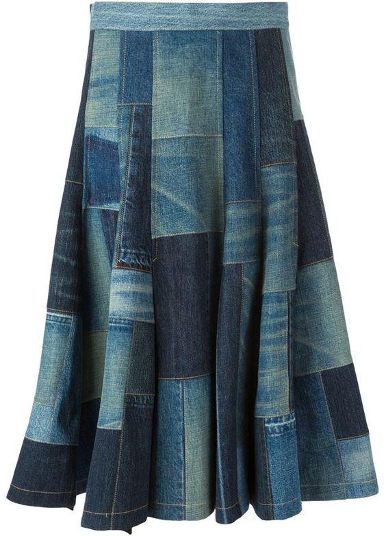 21 manieren om de jeans-trend van patchwork te volgen Kapsels  Patchwork-jeans