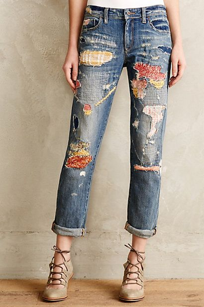 21 ways to follow the patchwork jeans trend pretty designs