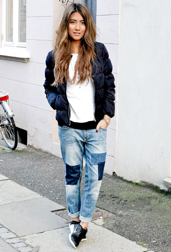 Patchwork Jeans Outfit