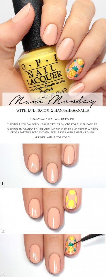 Pineapple Nail Design Tutorial