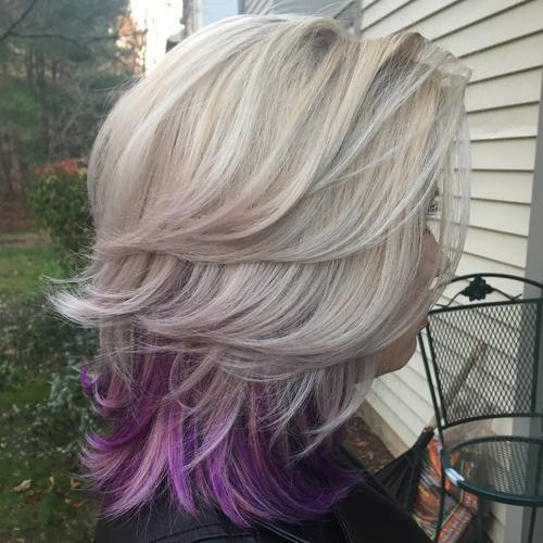 Purple Ends for Sliver Bob