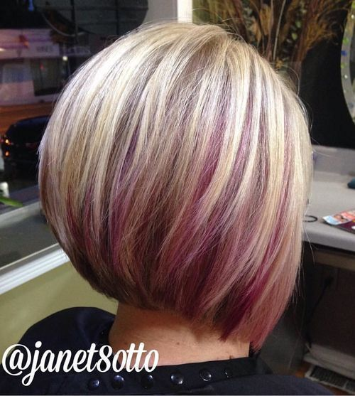 Purple Highlighted Hair