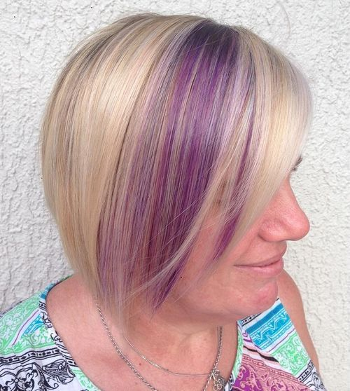 Purple Highlights for Blonde Hair