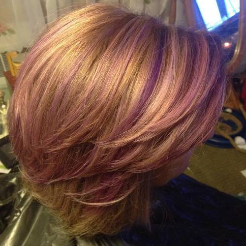 22 Sassy Purple Highlighted Hairstyles (for Short, Medium ...