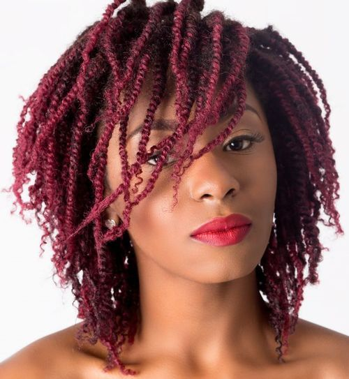 Purple Kinky Twists