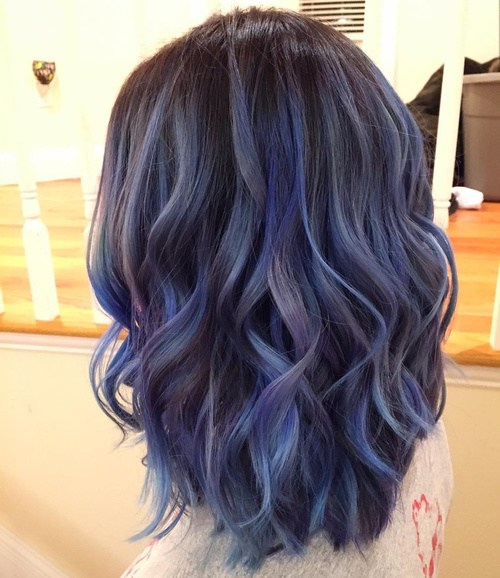 Purple and Blue Curls