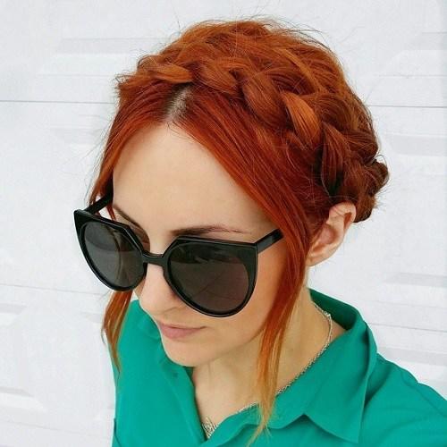 Red Cool Crown Braid