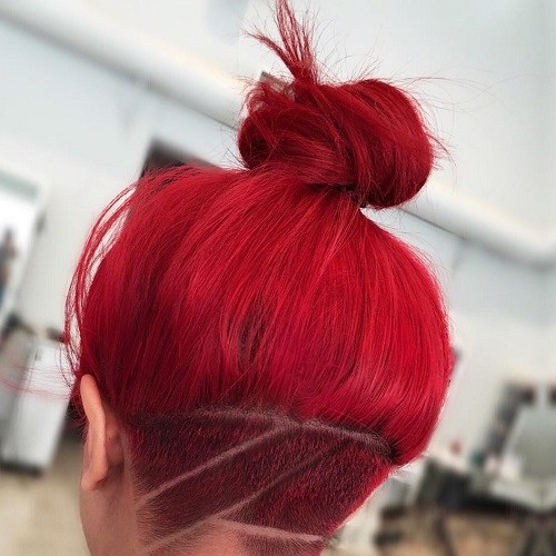 Red Hair Bun