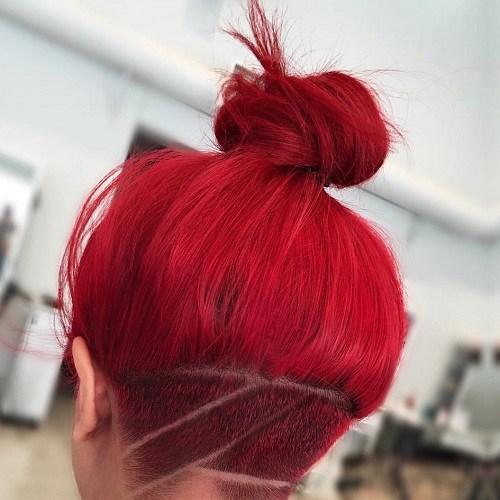 Red Hair Bun