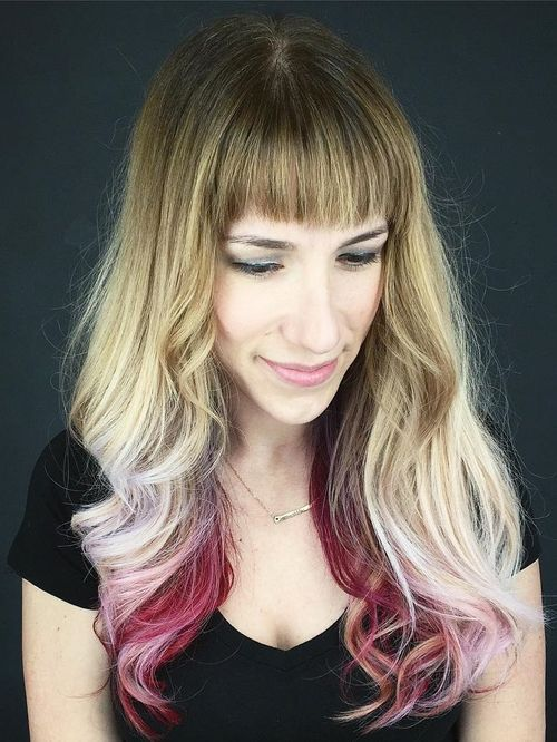 Red Highlighted Hairstyle