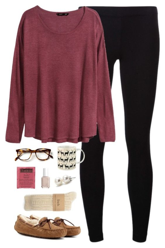 Red Tee and Black Legging
