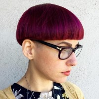 Red and Pink Bowl Hair