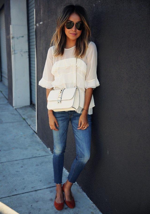 16 stijlvolle manieren om de ruffentrend uit te trekken Kleren  Lente-outfits