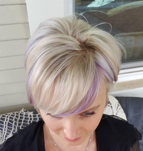 22 Sassy Purple Highlighted Hairstyles For Short Medium