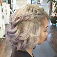 Side Braid for Ombre Short Hair