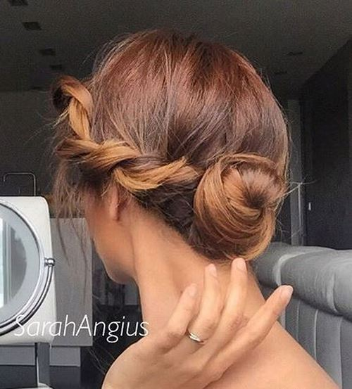 26 Amazing Bun Updo Ideas For Long & Medium Length Hair