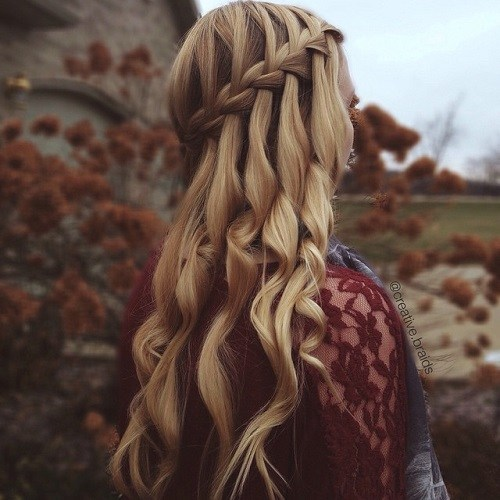 Sleek Waterfall Braid