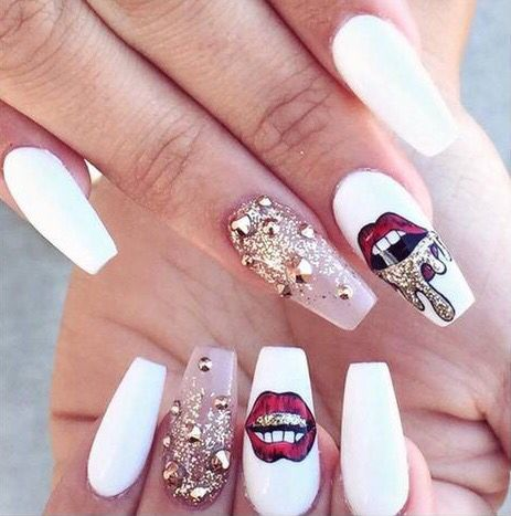 20 magnificent stone nail art designs  pretty designs