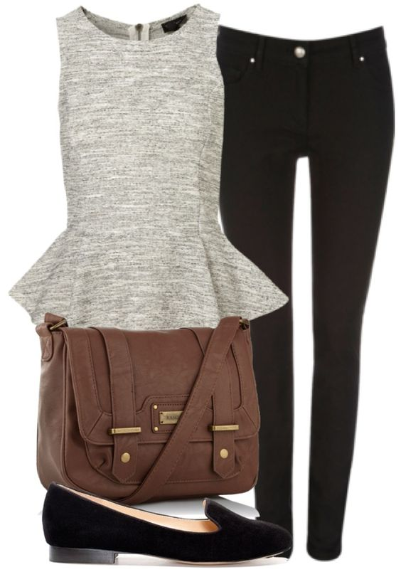 Stylish Top and Black Leggings