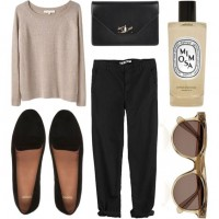 Sweater, Black Pants and Black Flats