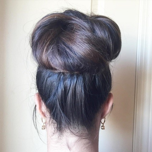 Top Bun for Super Long Hair