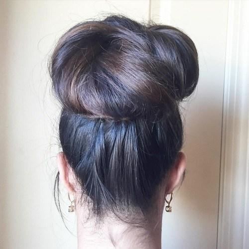 Top Bun for Super Long Hair