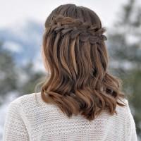 Waterfall Braid for Mid-length Hair