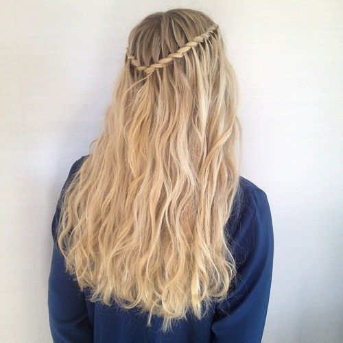 Waterfall Braid for Two-tone Hair