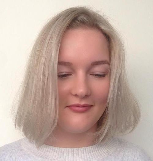 White Bob with Side Part