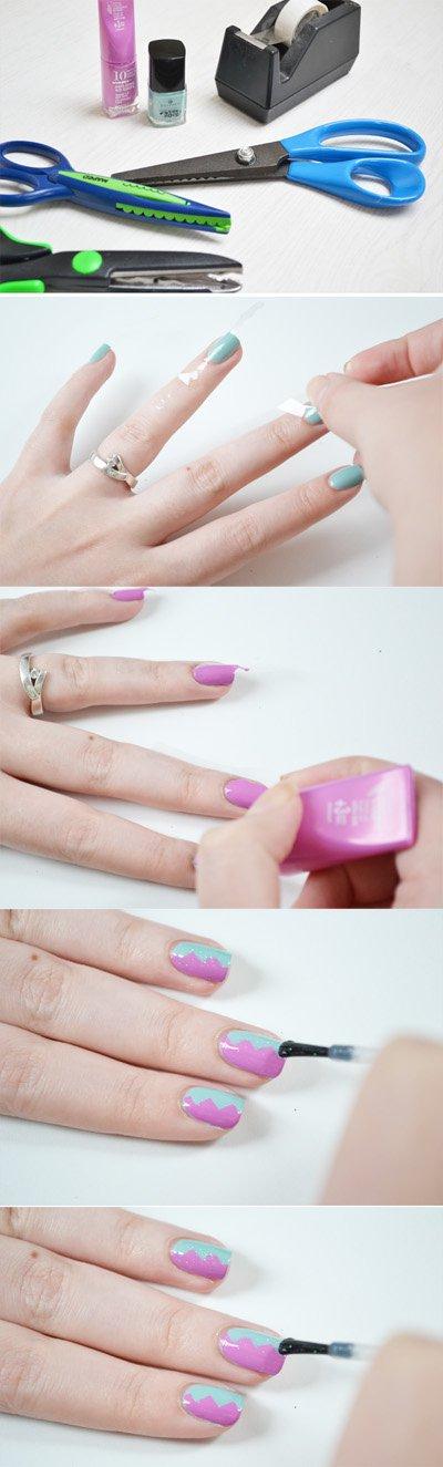 Zig-Zag Nail Design Tutorial