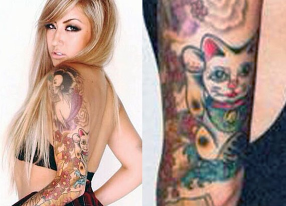 Allison Green Japanese tattoo on arm