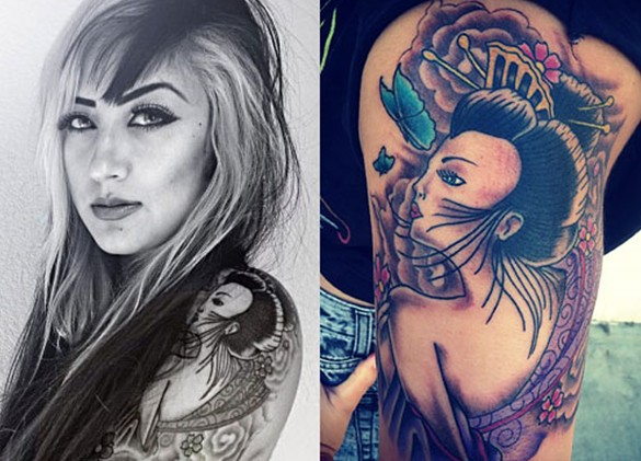 Allison Green arm tattoos