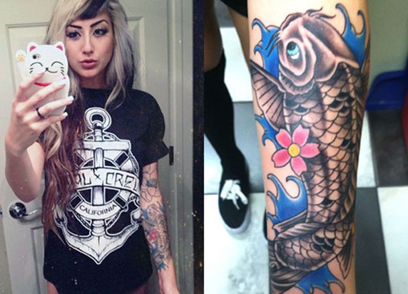 Allison Green koifish tattoo