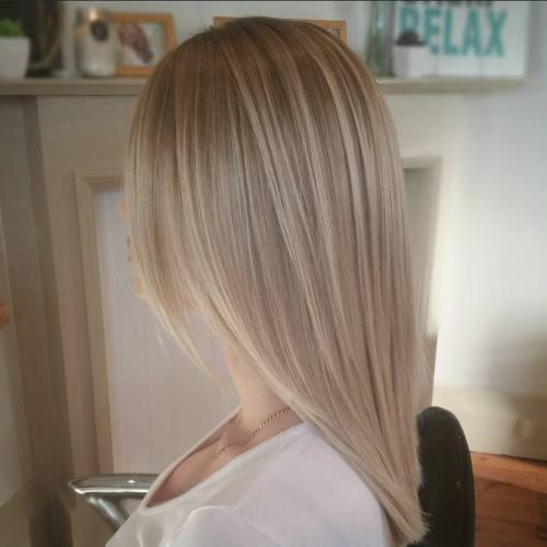 40 Blonde Hair Color Ideas With Balayage Highlights: Ash Brown Balayage Hair Look
